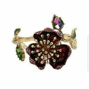 Betsey Johnson surreal forest flower bangle